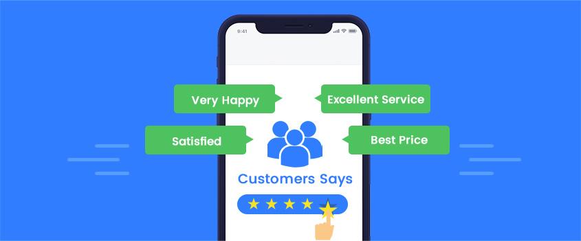 Show customer reviews and testimonials
