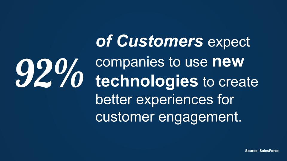 Use technology to provide better customer experience
